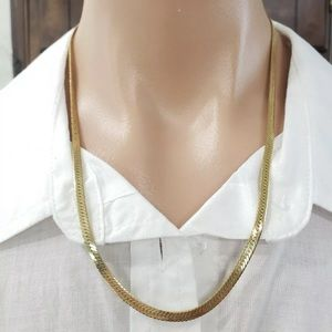 "14K Gold Filled Vintage Herringbone 20"" Necklace"